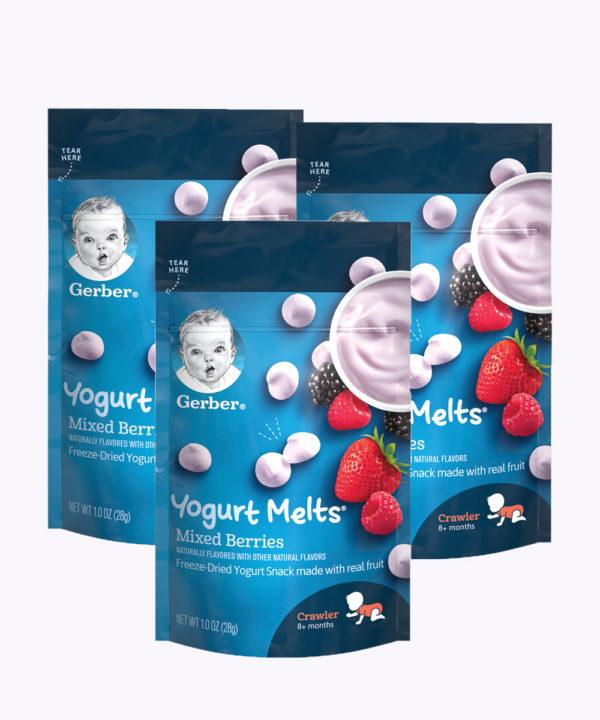 "Gerber Yogurt Melts Mixed Berry 1oz  Nuevo ""PACK X 3"""