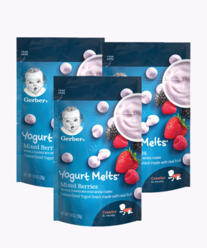 "Gerber Yogurt Melts Mixed Berry 1oz  Nuevo ""PACK X 3"""