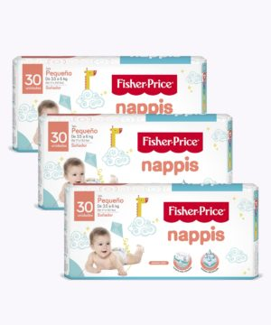 "Nappis Fisher Price P X 30 ""PACK X 3"""