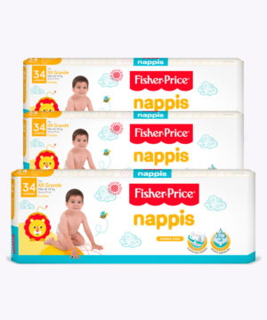 "Nappis Fisher Price Xxg X 34 ""PACK X 3"""