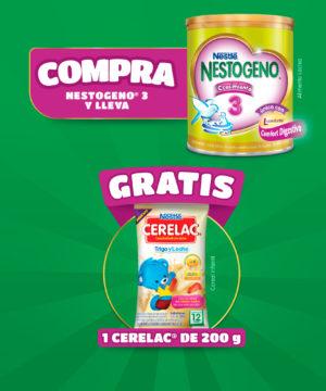 """Pack Nestogeno 3 800 Gr + Cerelac 200 Gr """"gratis"""""""