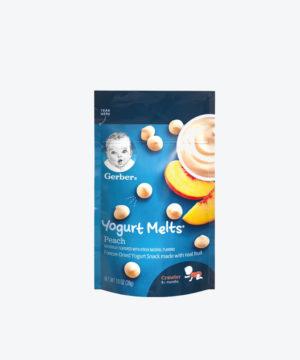 Gerber Yogurt Melts Peach 1oz  Nuevo