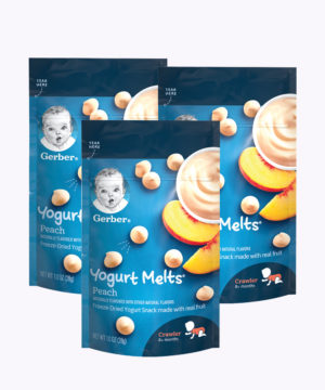 "Gerber Yogurt Melts Peach 1oz  Nuevo ""PACK X 3"""