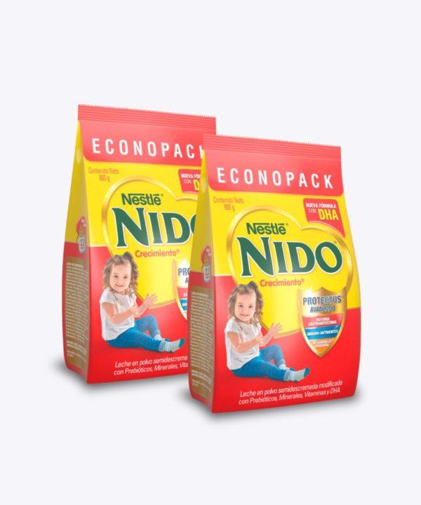 "Nido+1 Crecimiento Dha Funda 800 gr ""PACK X 2"""