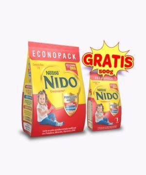 "Pack Nido+1 Crecimiento Dha Funda 2 Kg + 500 Gr ""gratis"""