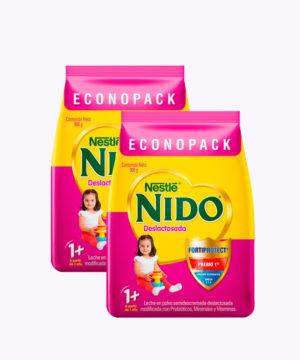 "Nido+1 Deslactosada Funda 800gr ""PACK X 2"""