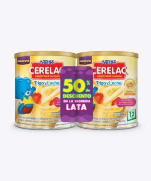 Pack Cerelac Tarro Probio Trigo 1000g+1000g