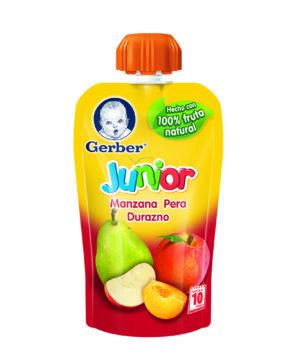 Gerber Junior Manzana Pera & Durazno 120gr Nuevo