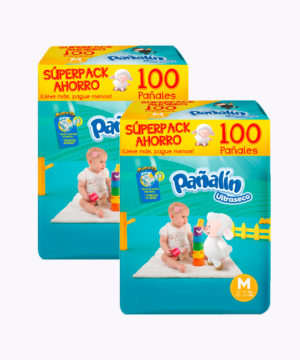 "Pañalin Ultraseco M X 100 ""PACK X 200"""