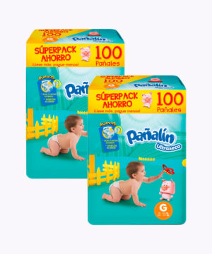 "Pañalin Ultraseco G X 100 ""PACK X 200"""