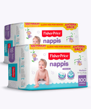 "Nappis Fisher Price M X 100 ""PACK X 200"""