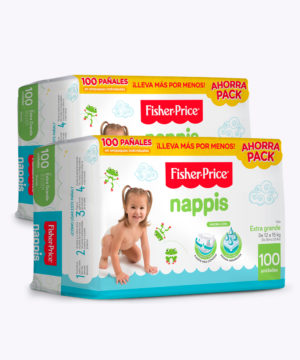 "Nappis Fisher Price Xg X 100 ""PACK X 200"""