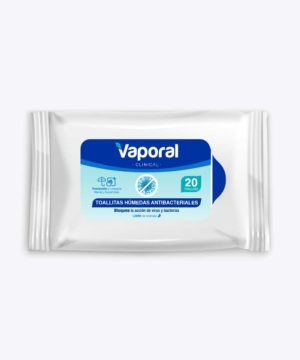 Toallas Humedas Vaporal Antibacteriales 20