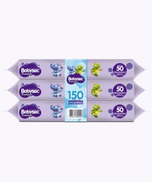 Toallas Humedas Babysec Premium Tripack X 150