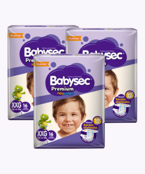 "Babysec Premium Flexi Protect XXG X 16 ""PACK X 3"""