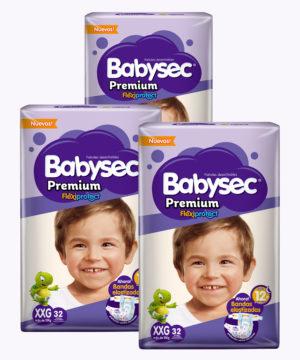 "Babysec Premium Flexi Protect Xxg X 32 ""PACK X 96"""