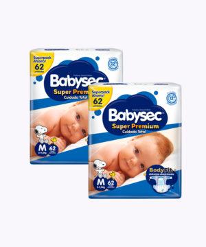 "Babysec Super Premium Mega Pack Mx62 ""PACK X 124"""