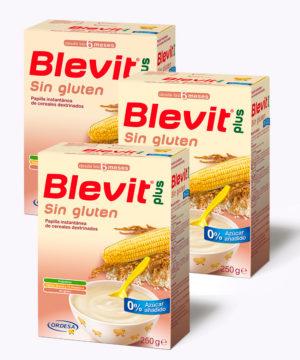 """Blevit Papilla Sin Gluten 250 gr """"PACK X 3"""""""