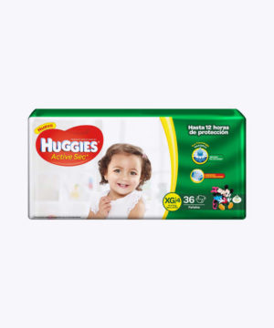 Huggies Active Sec  Xg X 36