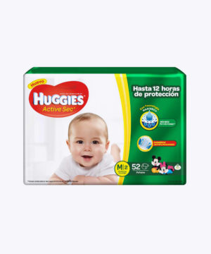 Huggies Active Sec  M X 52