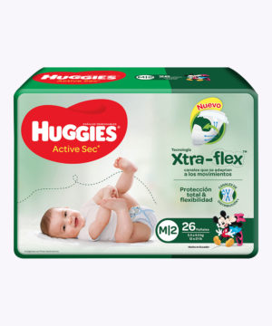 Huggies Active Sec  M X 26