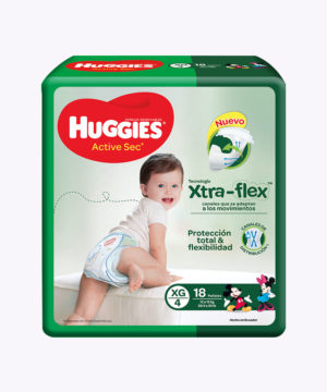 Huggies Active Sec  Xg X 18