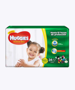 Huggies Active Sec  Xxg X 34
