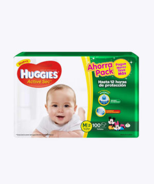 Huggies Active Sec  M X 100