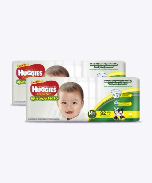 """Huggies Active Sec A. PerfectO-Pants M X 92 """"PACK X 184"""""""