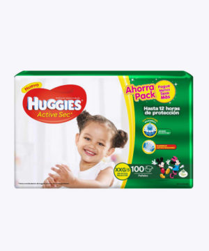 Huggies Active Sec  Xxg X 100