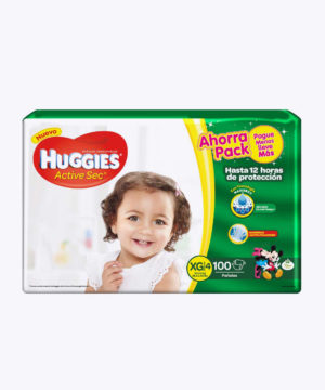 Huggies Active Sec  Xg X 100