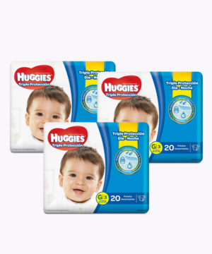 "Huggies Triple Proteccion G X 20 ""PACK X 3"""