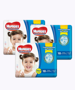 "Huggies Triple Proteccion Xg X 18 ""PACK X 3"""