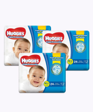 "Huggies Triple Proteccion M X 24 ""PACK X 3"""