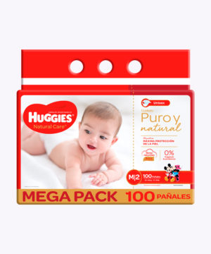 Huggies Natural Care Cotton Unisex M X100 Nuevo