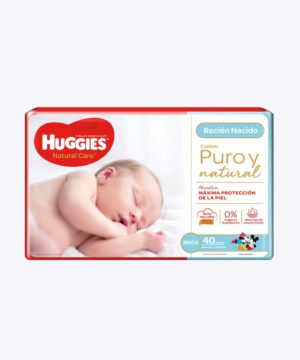 Huggies Natural Care Cotton Unisex Rn X40