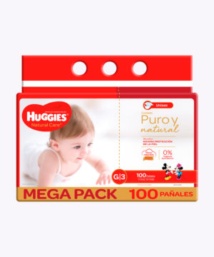 Huggies Natural Care Cotton Unisex G X100 Nuevo