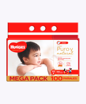 Huggies Natural Care Cotton Unisex Xg X100 Nuevo