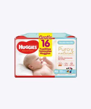 Onpack Huggies Natural Care Cotton P X30 +toallita Nuevo