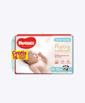 Onpack Huggies Natural Care Cotton P X50 +toallita Nuevo