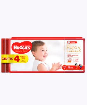 Onpack Huggies Natural Care Cotton Xxgx40+4 Gratis  Nuevo