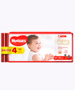 Onpack Huggies Natural Care Cotton Xxgx40+4 Gratis  Nuevo