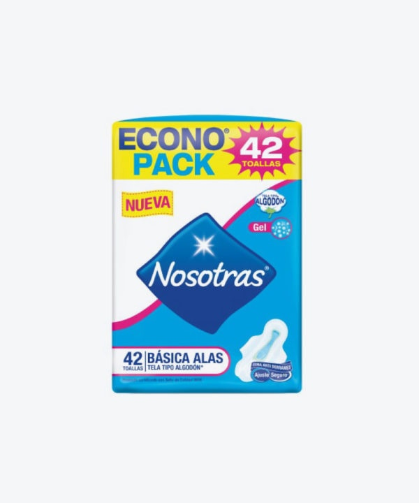 Nosotras Basica Tela Con Alas Econopack X42