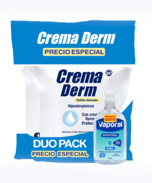 Onpack Pañitos Crema Derm Pack X 200 + Gel Antibac 250ml