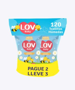 Pañitos Lov X 120 Pack Pague 2 Lleve 3