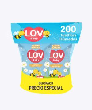 Pañitos Lov Duopack Precio Especial X 200