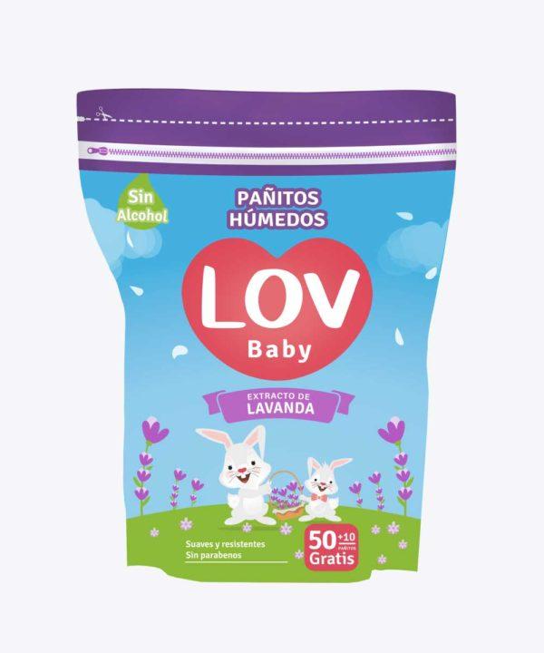 Pañitos Lov Lavanda 50+10