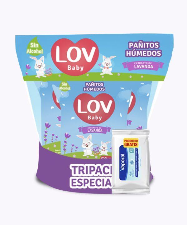Onpack Pañitos Lov Lavanda X 180 Tripack10 + Th Lov