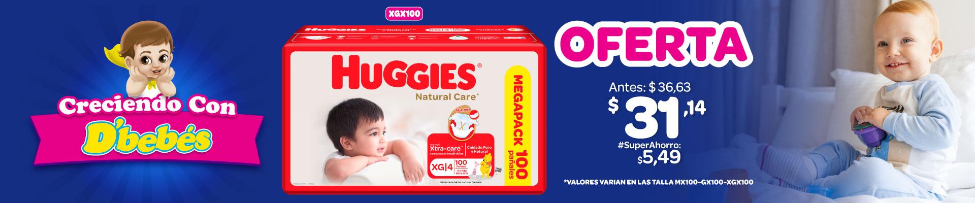 BANNER HUGGIES NATURAL CARE COTTON UNISEX XG X10