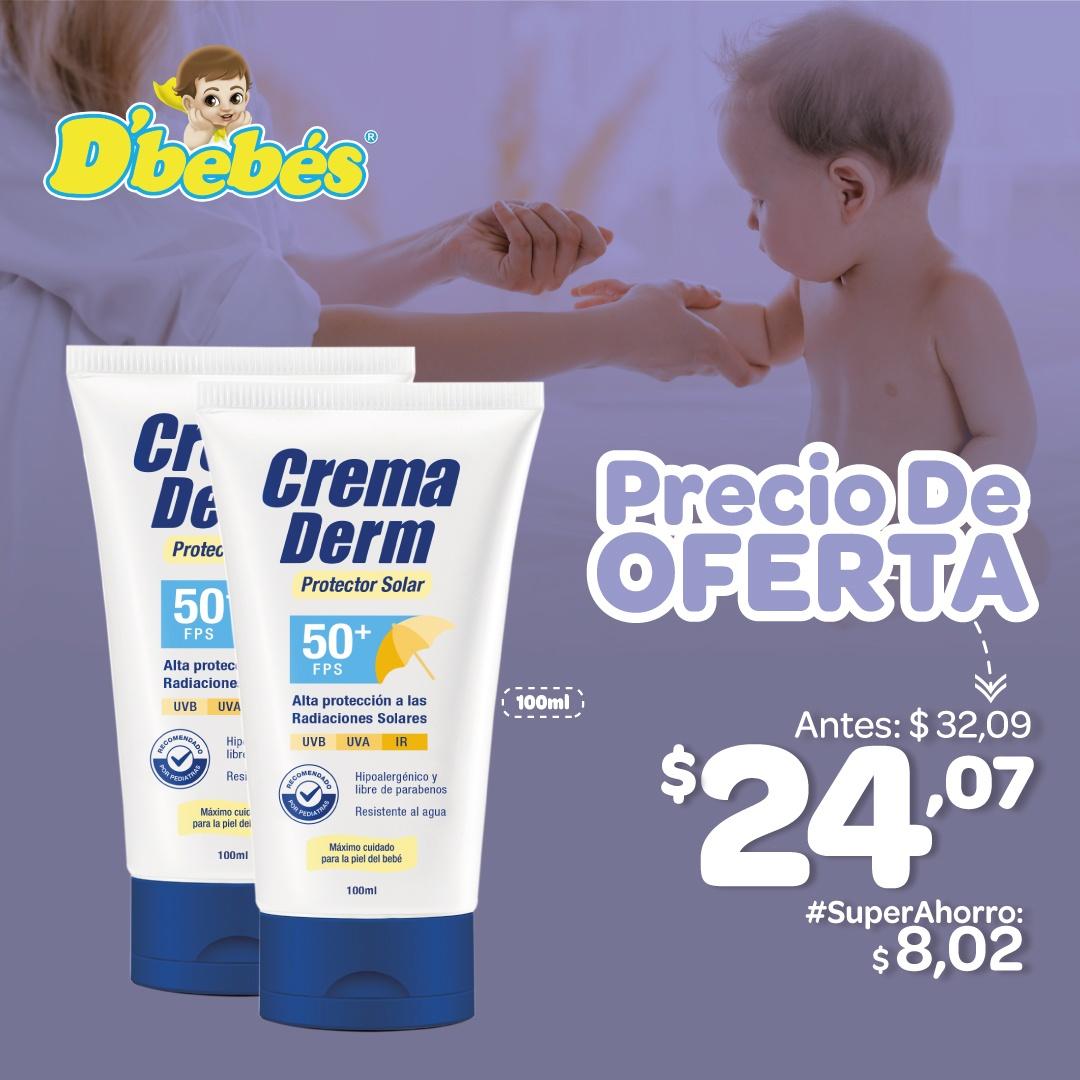 CREMA DERM PROTECTOR SOLAR 50 FPS 100ML RECOMENDADO